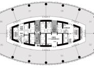 7-24F建面约270-2192㎡甲级办公平面图